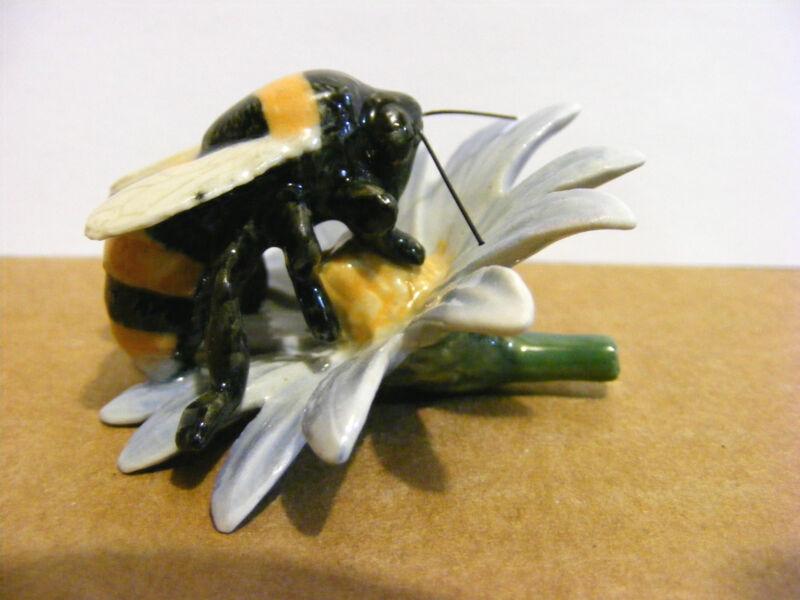 Northern Rose Bumblebee On Flower, Miniature Animal Figurine, Bug, Nature, Bee