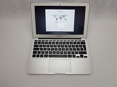 "Apple MacBook Air 11"" A1465, 2015 Intel i5 5th Gen 1.6GHz 4GB 128GB SSD Silver"
