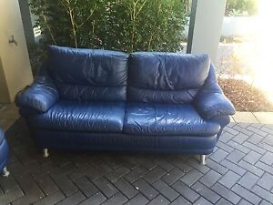 3 seater + 2 seater Italian Demir leather lounge Bangor Sutherland Area Preview