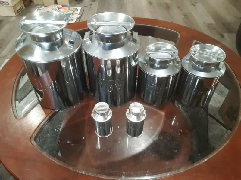 Milk Can Canister Set 6 Pc