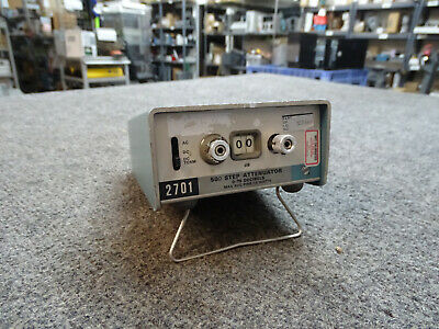 Tektronix 2701 Variable Step Attenuator Dc To 1 Ghz 79 Db 50 Ohm