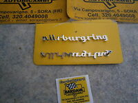Fiat 600 Abarth - Scritta Nurburgring In Metallo Mm 12x130 -  - ebay.it