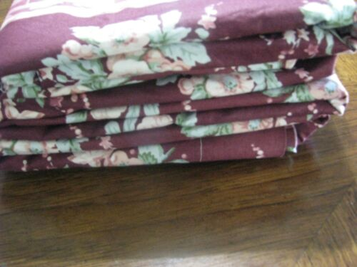 Floral Burgundy 10 Yards 3 Pieces Waverly Fabric Sarina Centennial Collection