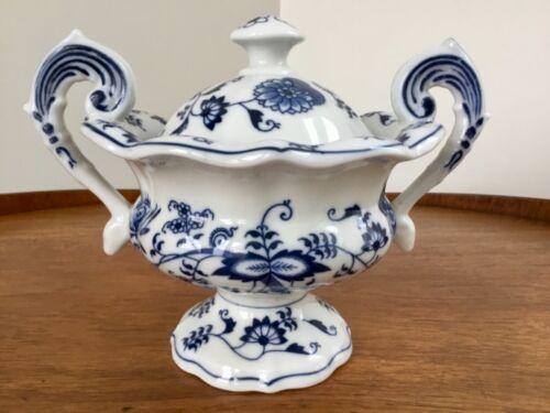 "Blue Danube Mayonnaise / Sugar Bowl Pedestal Japan ~ Older Banner Mark ~ 5 3/4"""