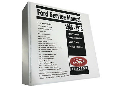 5000 Ford Tractor Technical Service Shop Repair Manual Huge 913 Page Book