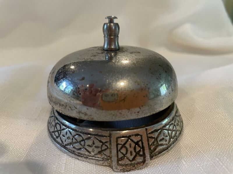 Antique Hotel Desk Or Counter Service Bell