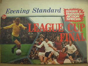 EVENING STANDARD LEAGUE CUP FINAL 1973 NEWSPAPER SPECIAL SPURS v NORWICH