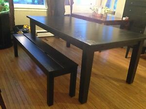 IKEA Table and Bench!
