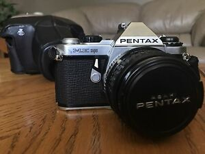 Asahi Pentax ME super slr camera  w/ Japan Leather case works A1