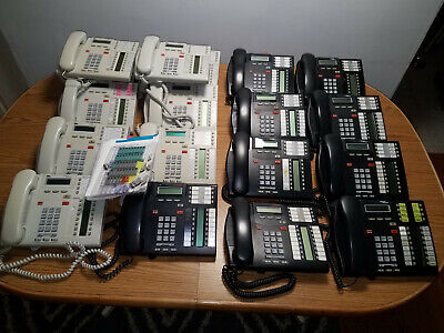 Wholesale Lot Of 18 Avaya Nortel Norstar T7316e Charcoal White Black Telephones
