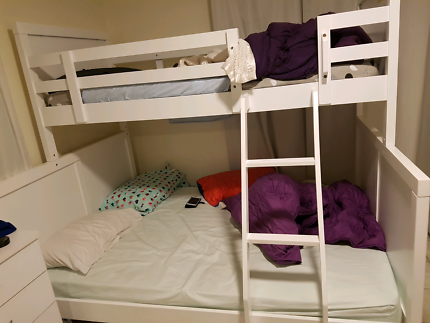 Bunk bed timber single over double