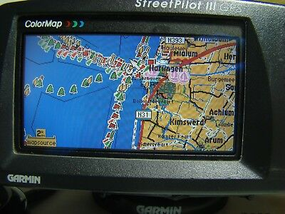 Handliches Garmin GPS NAVI / Kartenplotter mit Bootssportkarte Nordholland