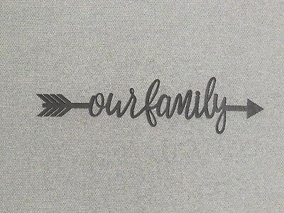 Our Family Word Arrow Wood Wall Sign Home Decor - Arrow Wall