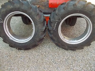 Allis Chalmers B C Tractor 11.2 X 24 75 Tread Uniroyal Tire Tires Rims Rim