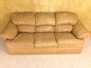 LEATHER SOFA FOR $150! DELIVERY AVAILABLE!