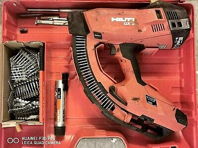 Hilti Gas Nailer Gx3 Working Excellent1 Box Of Nail1 Extra Cartridge