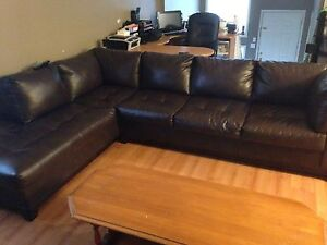 Leather sectional  Windsor Region Ontario image 1