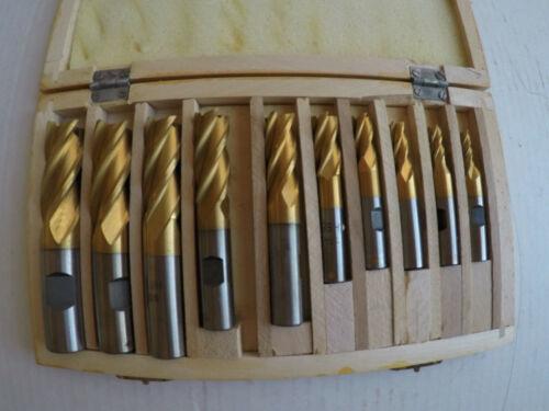 """10 Pcs 3/16-3/4"""" 4 Flute End Mill Set"""