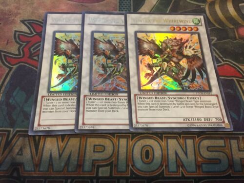 Yu-Gi-Oh 3x Ultra Rare Blackwing Gale The Whirlwind 1st Edition DUSA-EN078 NM