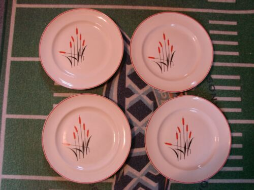 Vintage Sears Roebuck & Co. Universal Cattail Pattern Dinner Plates (4)