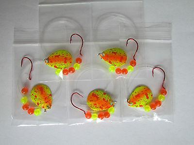 5 Spinner Rigs Walleye Perch Crappie Harness #1 UV Colorado Blades