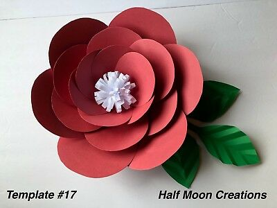 Paper Flower Template #17 Kit - DIY - Make Unlimited Flowers - Make All Sizes