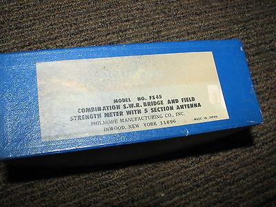 PHILMORE Model FS-45 Combination SWR & Field Strength Meter HAM /CB RADIO IN BOX