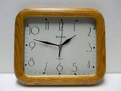 Bulova Oak Wood Wall Quartz Clock C4412