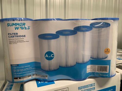 ✅ Summer Waves Pool Filter Type A or C 4 Pack FREE SAME DAY SHIPPING