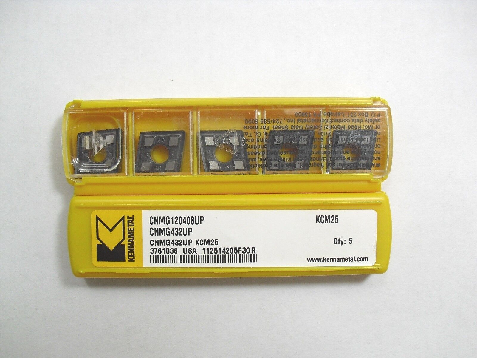 CNMG 432UP KCM25 KENNAMETAL Insert **10PCS**