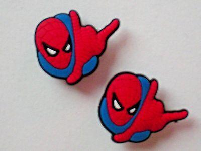 Jibbitz Croc Shoe Charm Plug Buttons Fit WristBands Bracelet Belts 2 Spiderman
