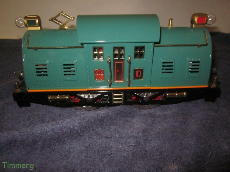 MTH Tinplate 10 0-4-0 Standard Gauge Electric Locomotive Peacock w/PS-2