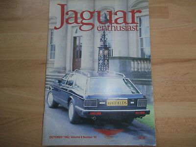 JAGUAR ENTHUSIAST 1992.XJ6 Resto' p 5.Club news.Classified.XJ6 Estate. XK 120.