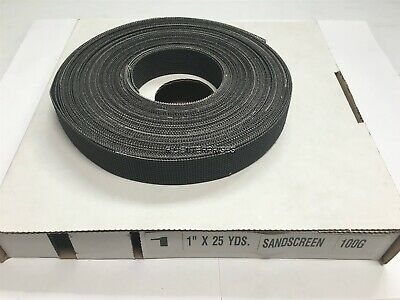 1 X 25 Yards Sand Screen 100 Grit Open Weave Plumbers Mesh Roll