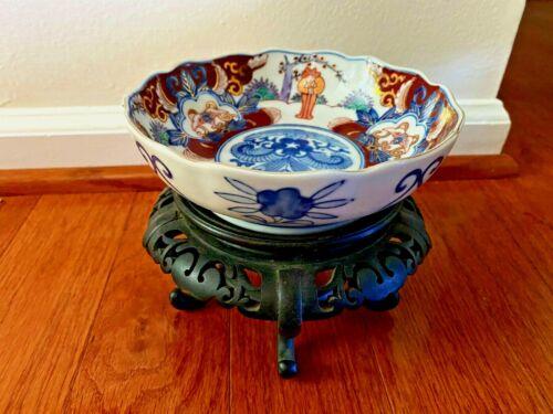 Antique Meiji Japanese Imari Bowl Signed