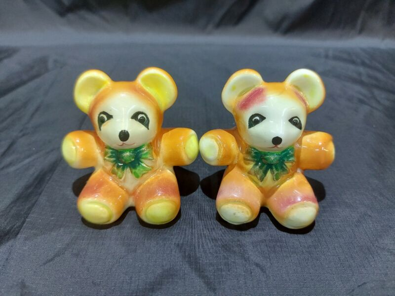 Vintage Collection Salt and Pepper Shakers Teddy Bears