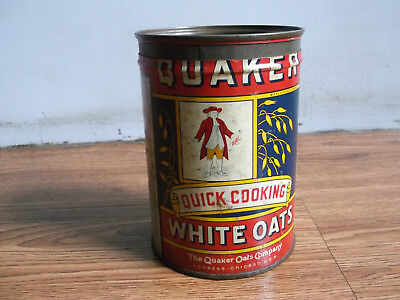 Rare vintage Quaker Oats advertising tin box made in U.S.A.
