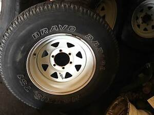 """SET OF 4 SUNRAYSIA 16"""" RIMS WITH TYRES W/40-50% TREAD Underwood Logan Area Preview"""