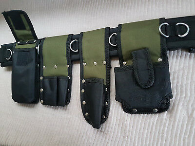 Scaffolding Nylon Tools Belt 5in1 Pockets Pouch Spanners Tape Level Holder