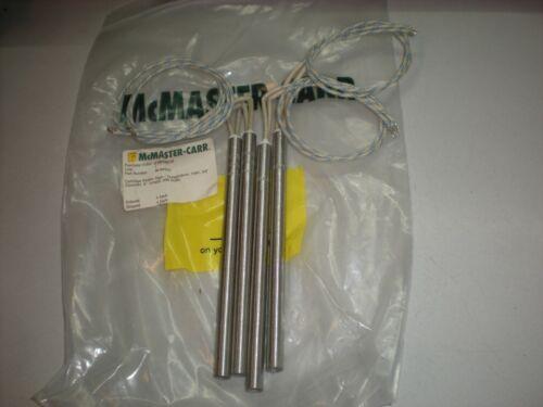 "Lot of (4) Tutco CH13061 Cartridge Heaters - 3/8"" Dia - 240VAC, 3/8"" Long - 600W"