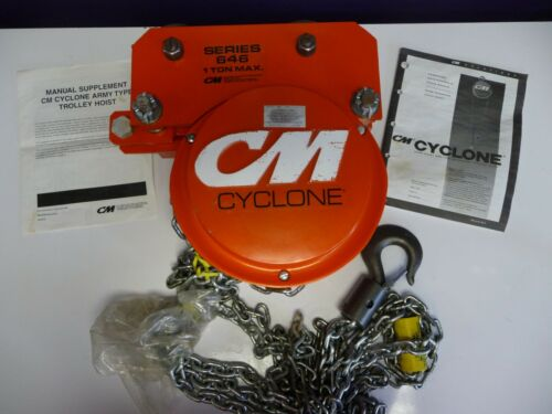 CM Cyclone 646 Series 3/4 Ton Chain Hand Hoist & Low Headroom Trolley Hoist 646G
