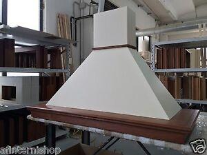 Cappa cucina classica MAYA 120 rustica legno noce panna senza ...