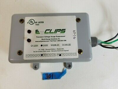 E Clips Transient Voltage Surge Suppressor Protector World Energy 240h In Line
