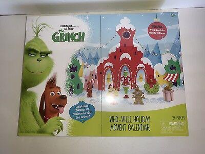 Advent Calendar Christmas Countdown 24 Days The Grinch Holiday Seasonal Kids Toy