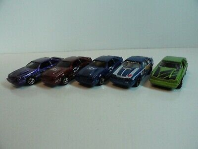 Lot of 5 Hot Wheels '92 Ford Mustang - LOOSE