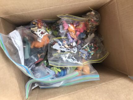 Box of small figures some collectible
