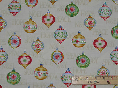 Christmas Elegance Ornaments Henry Glass Fabric by the 1/2 Yard  #9929 for sale  Shipping to Canada