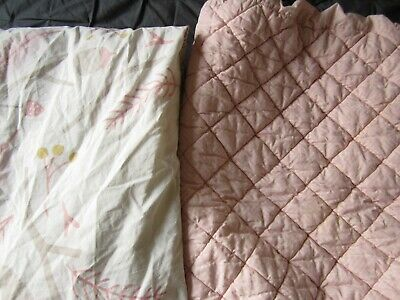 Land of Nod (Crate and Kids) baby/toddler crib sheet and changing pad cover pink