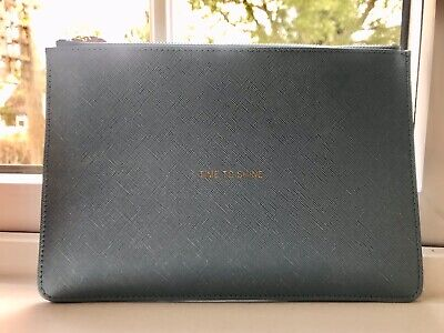 Katie Loxton London Time To Shine - Pale Blue Perfect Pouch NEW With Tags!