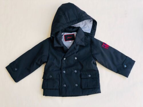Kids Jacadi Paris Detachable Hooded Jacket - Navy - 23 Months / 86cm